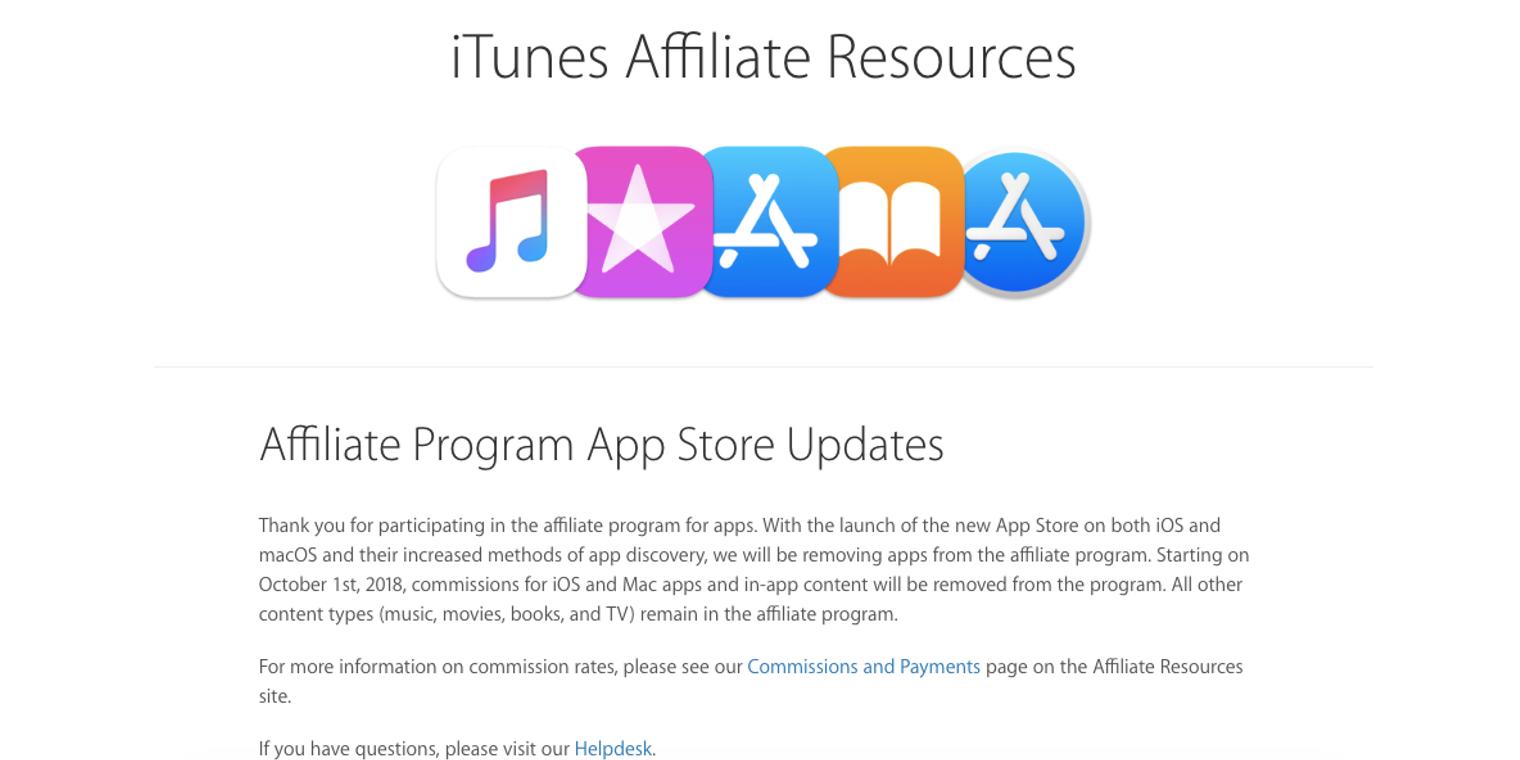 Apple discontinuing App Store affiliate program, endangering revenue