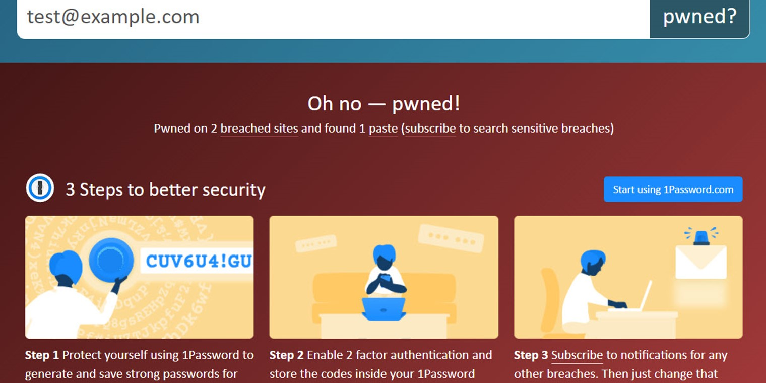 1password Have I Been Pwned