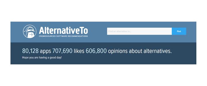 AlternativeTo - Crowdsourced software recommendations