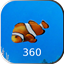Aquarium 360 LWP icon