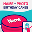 Birthday Cake With Name And Photo icon