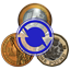 Currency Converter. Exchange rates and calculator offline icon