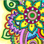 Mandala - adults coloring book icon