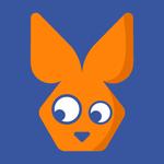 retro rabbit icon