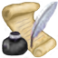 Scroll, Quill & INK icon