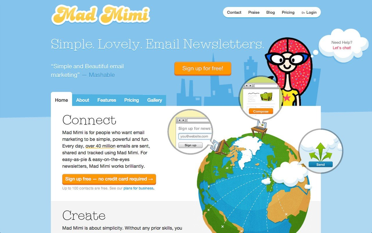 Mad mimi alternatives and similar websites and apps for Mad mimi templates