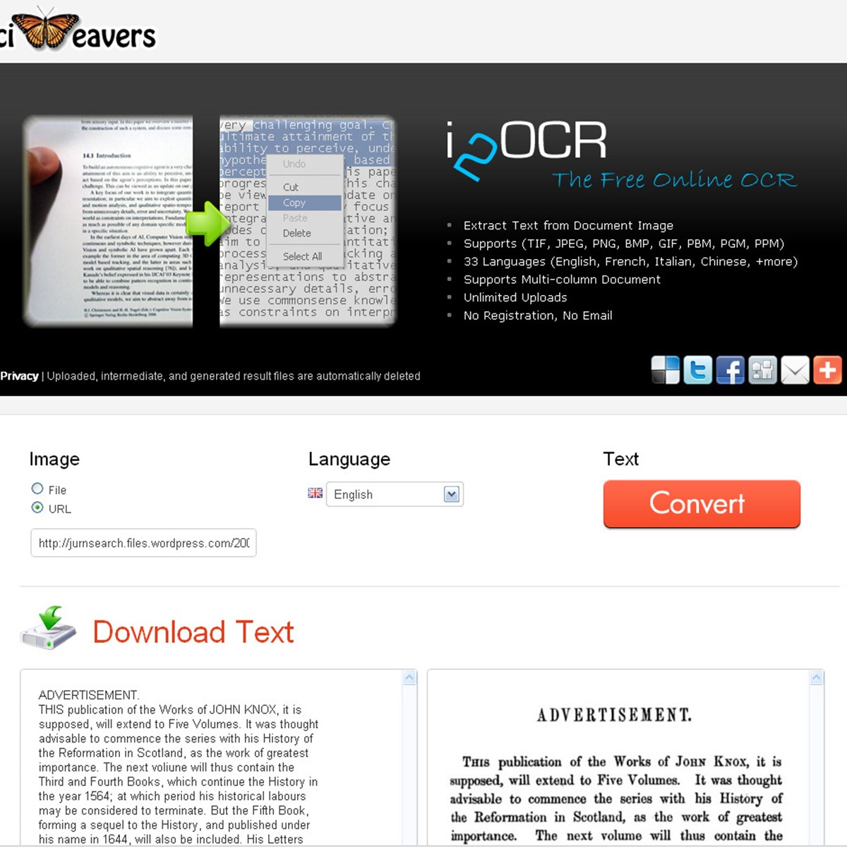 i2OCR Alternatives and Similar Websites and Apps