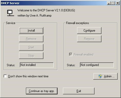 free dhcp server software for windows 7