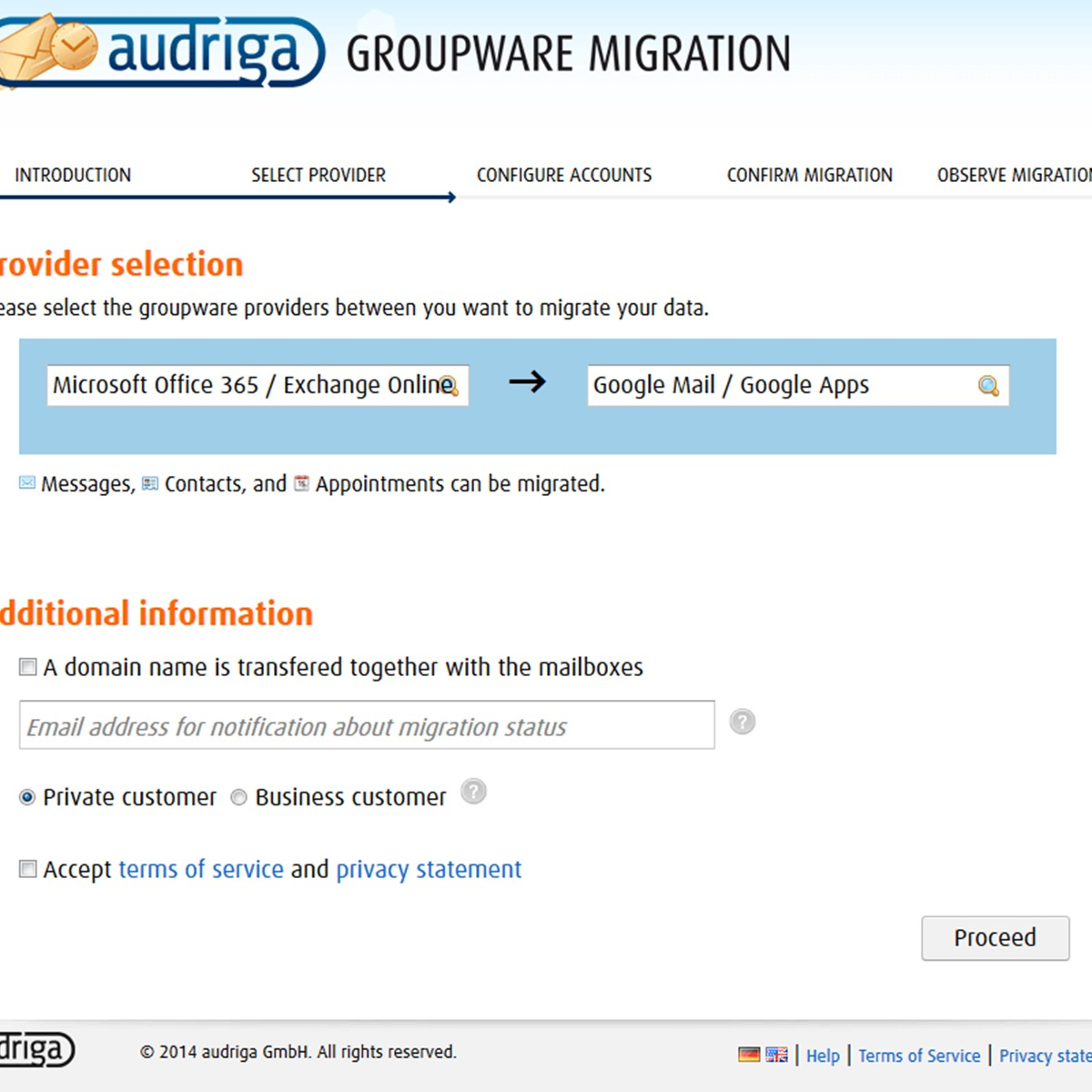 audriga Email and Groupware migration Alternatives and