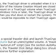 In portable mode the TrueCrypt driver is unloaded