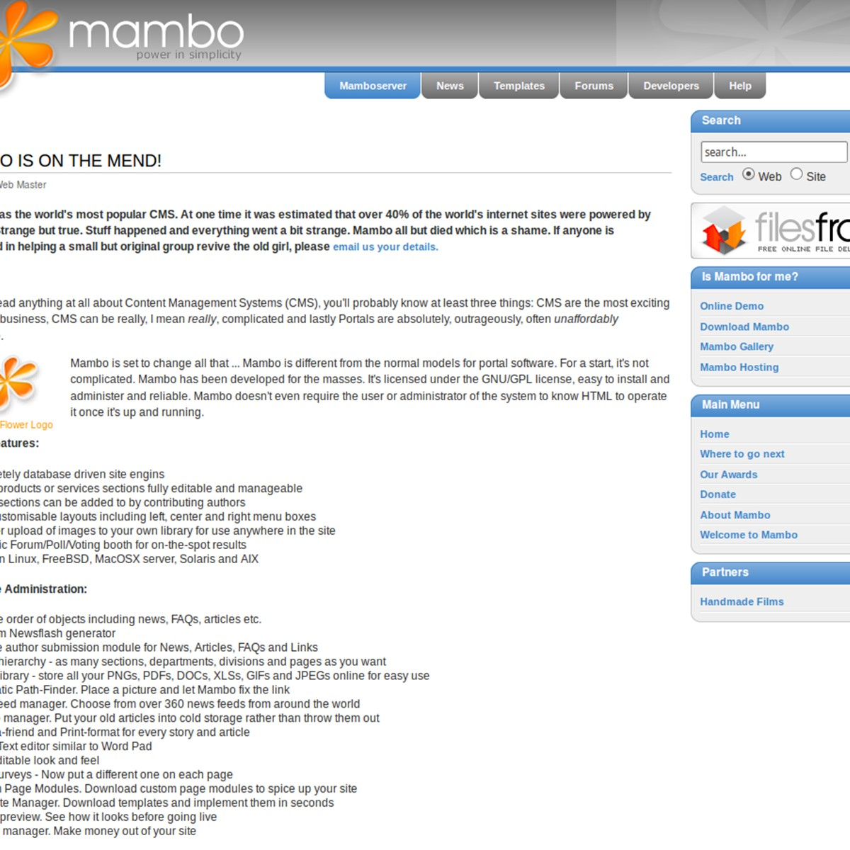 Mambo Alternatives and Similar Software - AlternativeTo net
