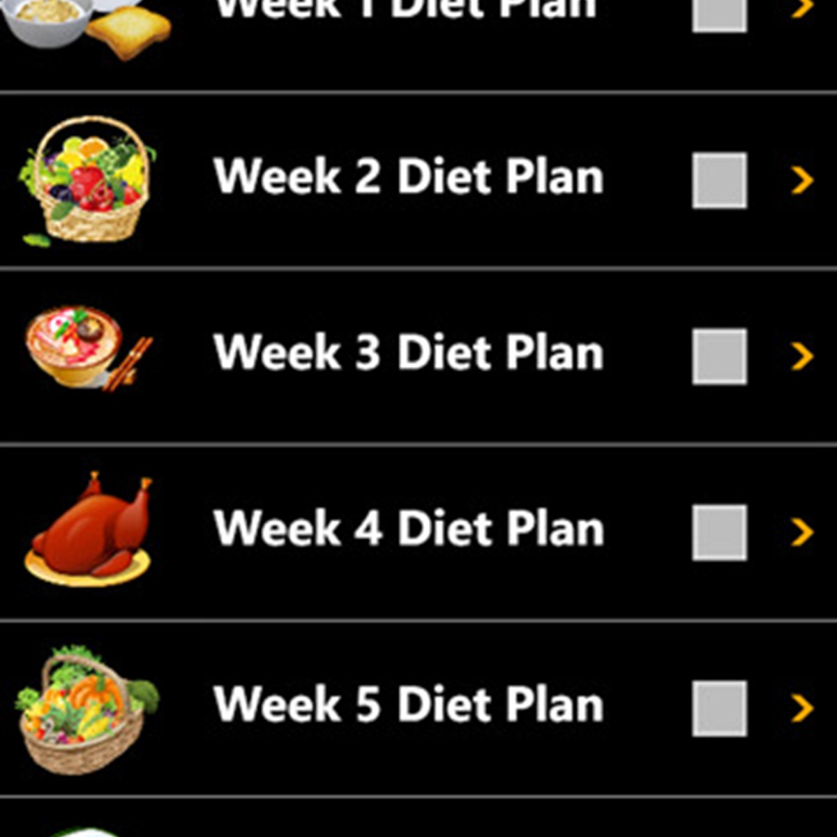 Recipe for diet plan