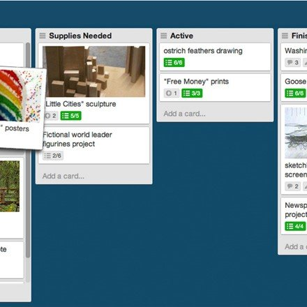 Regular board in Trello.