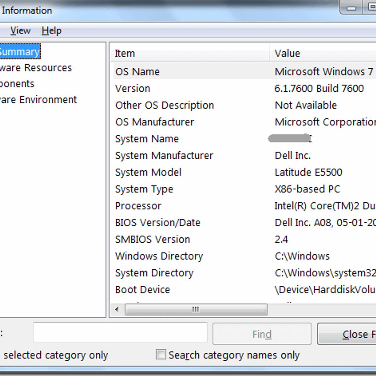 Windows System Information Alternatives and Similar Software
