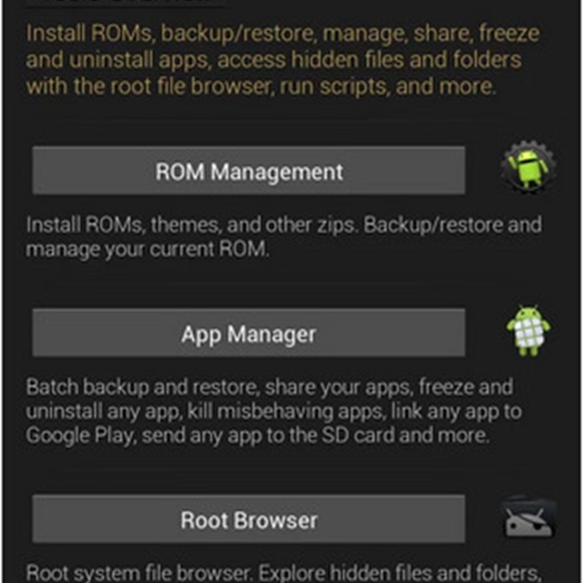 ROM Toolbox Alternatives and Similar Apps - AlternativeTo net