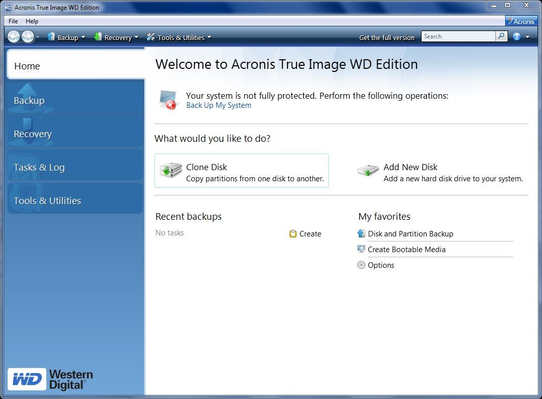 How to automatically clone a disk with acronis true image wd.