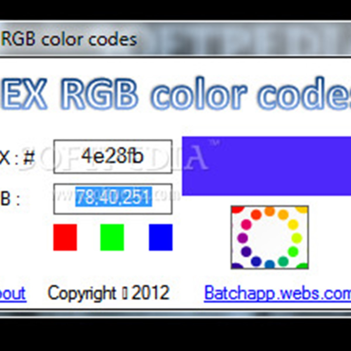 hex rgb color codes alternatives and similar software