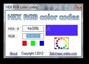 its possible to update the information on hex rgb color codes or report it as discontinued duplicated or spam