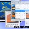 DVD slideshow GUI's Main, Project Settings, Slide Settings, and Pan, Zoom and Rotate windows.