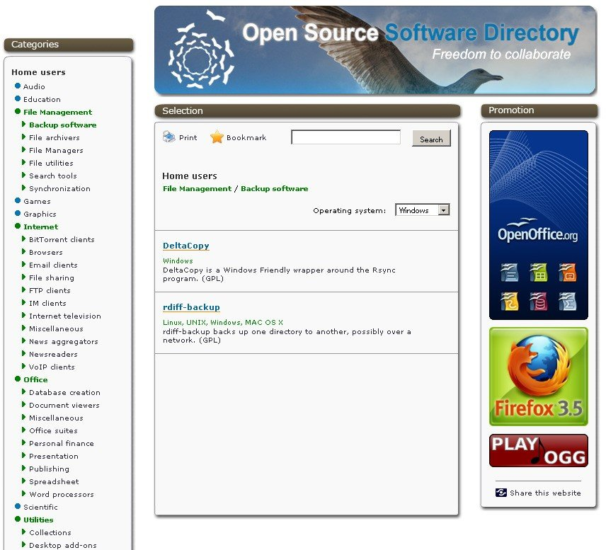 Open source software directory alternatives Open source programs