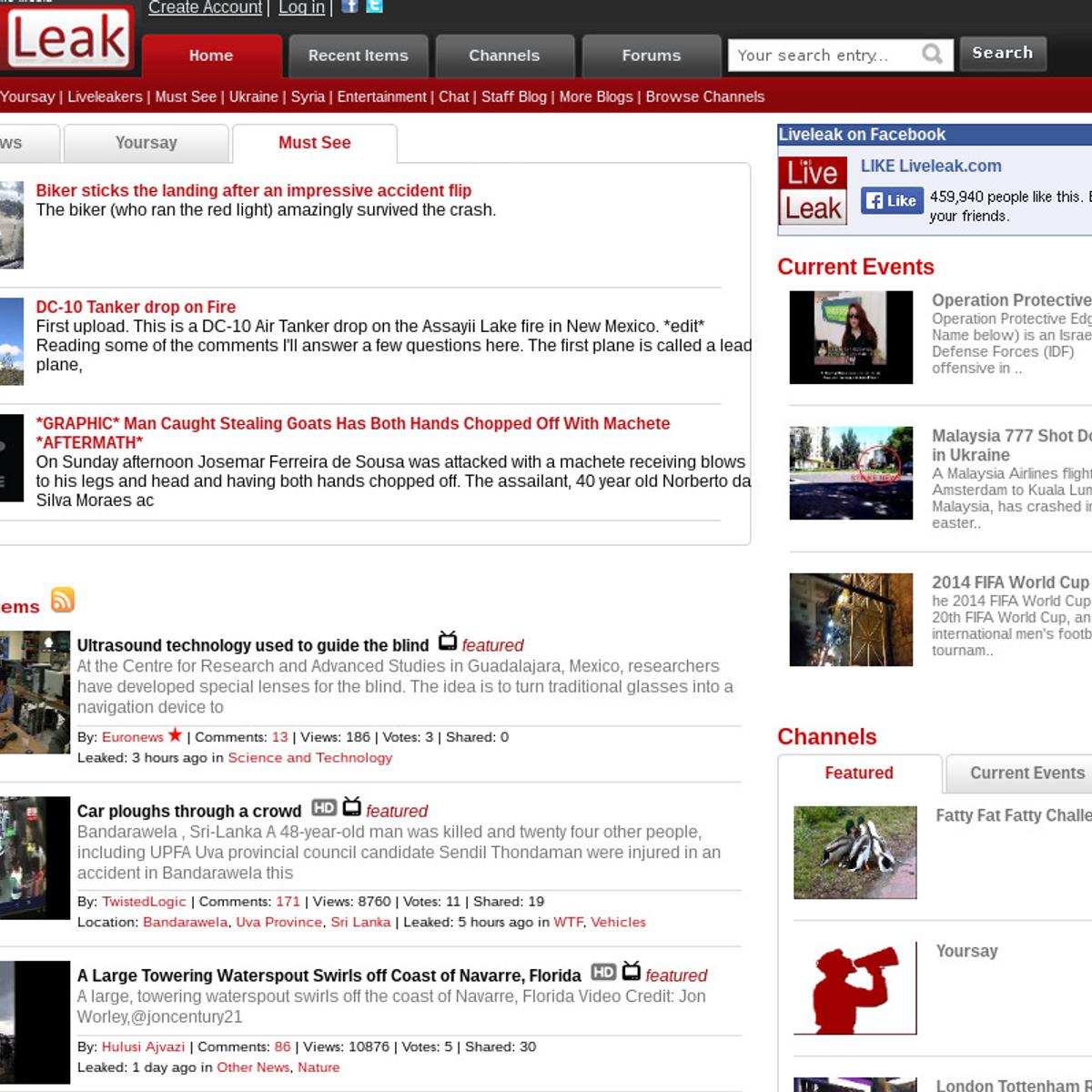 LiveLeak Alternatives and Similar Websites and Apps - AlternativeTo net