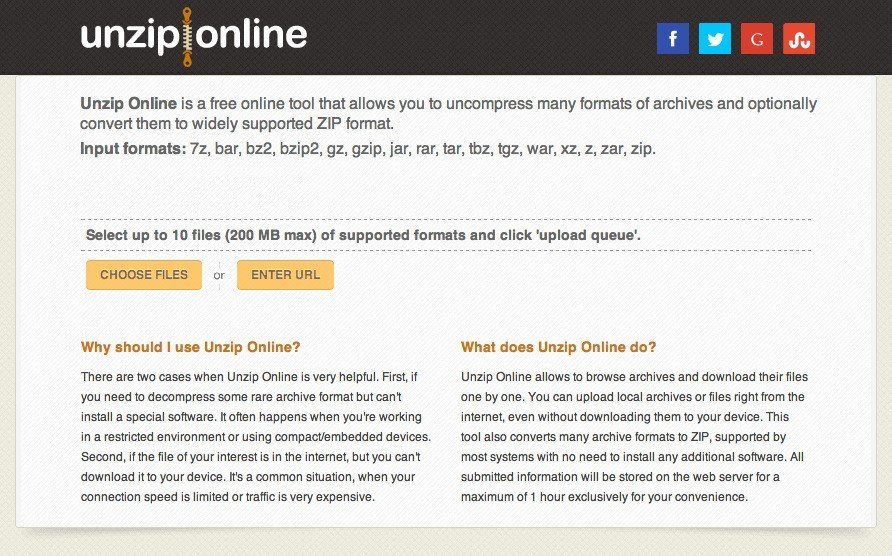 Unzip Online Alternatives and Similar Websites and Apps