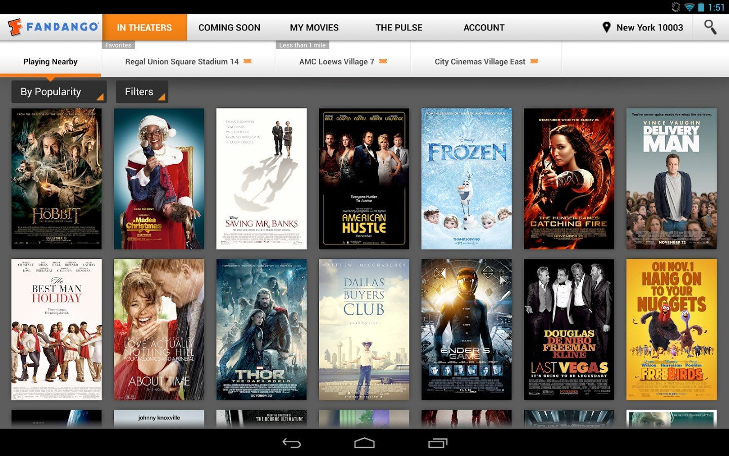 Fandango app updated with new design new rating system and more - Android Tablet Windows Phone Windows Phone More App Info