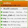 Max99 chat contacts list