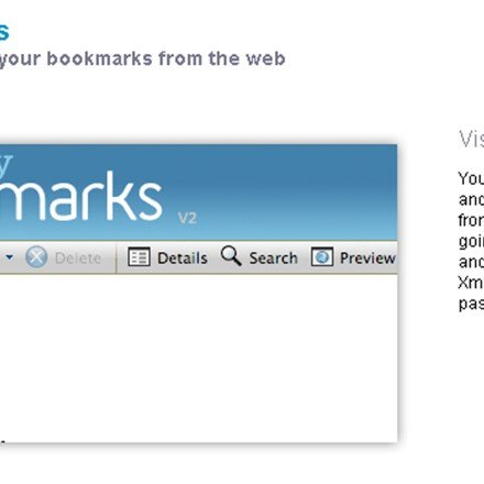 View and manage your bookmarks from the web