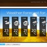 The weather forecast app is just one of the many Bizplay apps available.