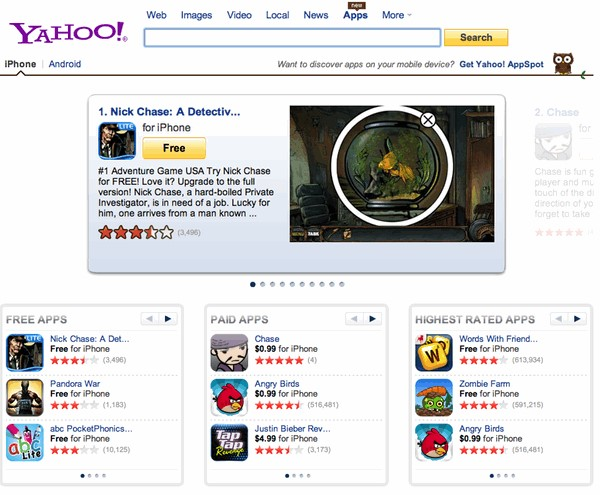 Yahoo! App Search Alternatives and Similar Websites and Apps