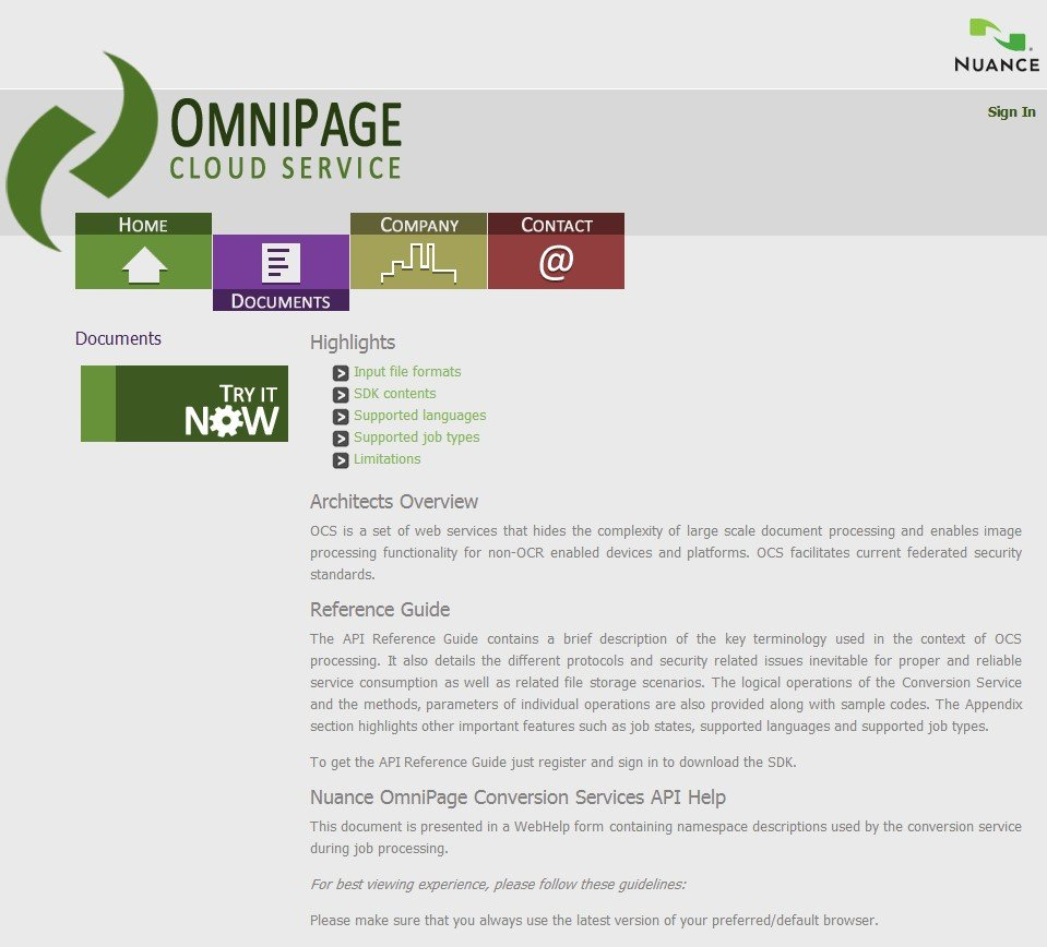 omnipage free ocr