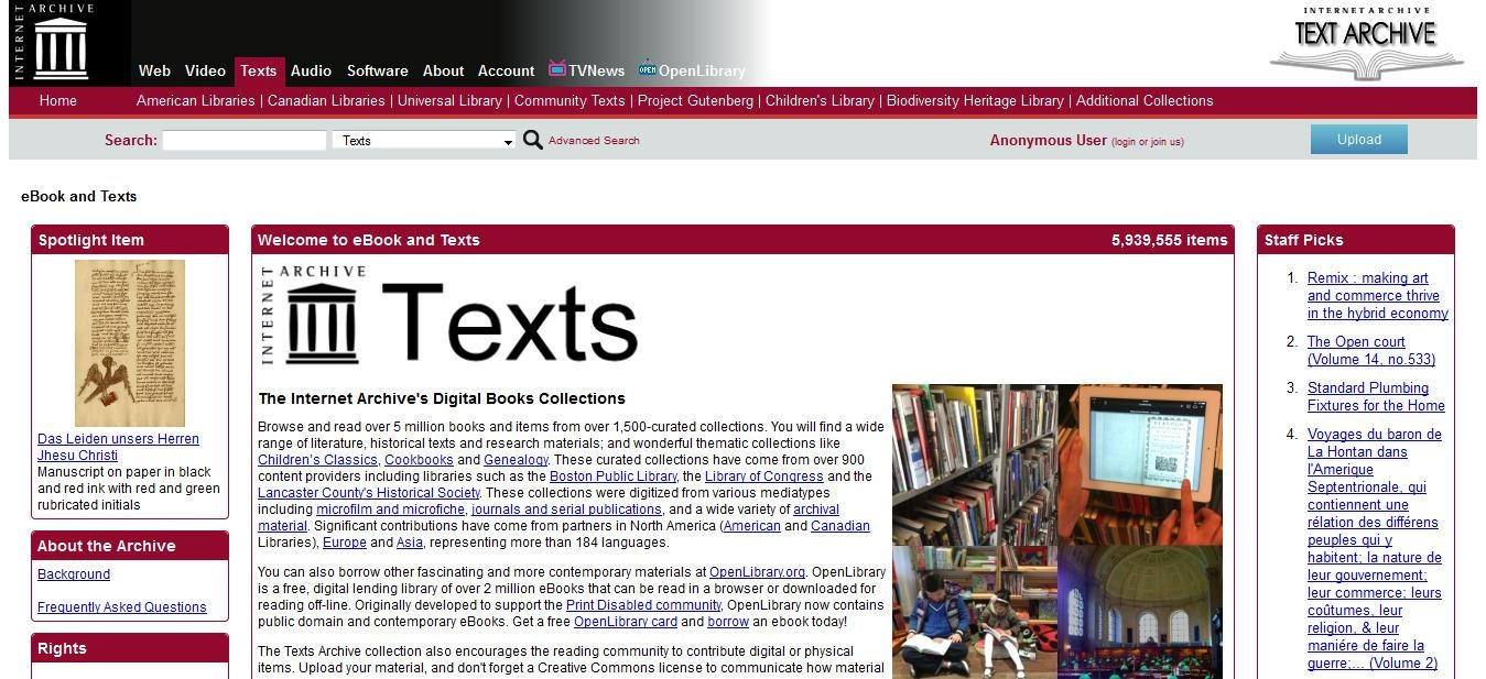 Internet Archive Alternatives and Similar Websites and ...