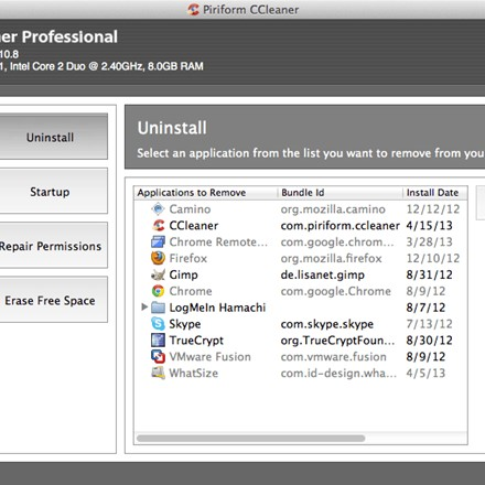 CCleaner Mac Uninstall Feature