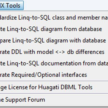 Huagati DBML/EDMX Tools Alternatives and Similar Software