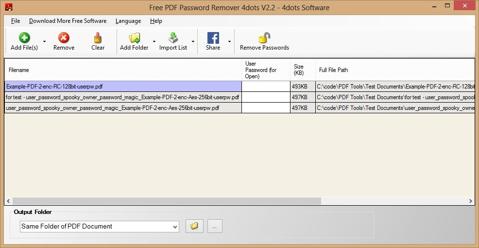 pdf remover password download
