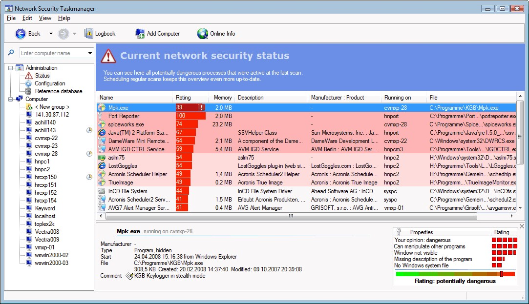 Network Security Task Manager Alternatives and Similar