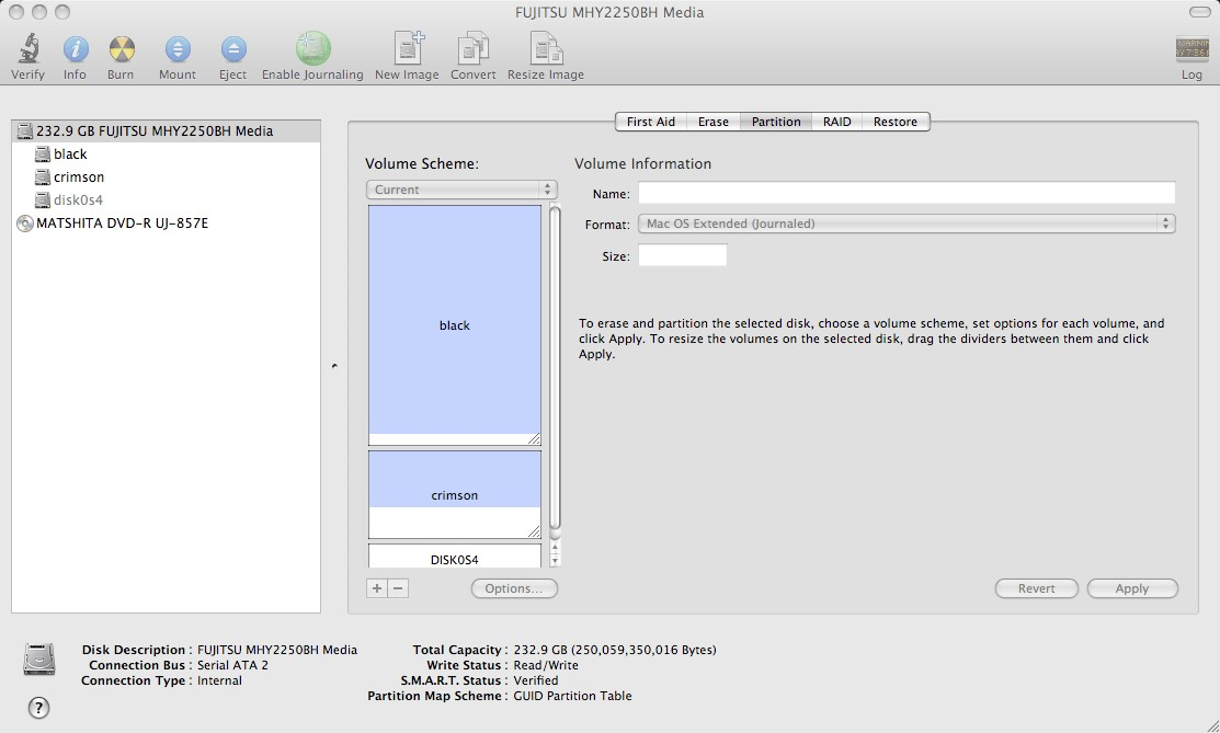 how to partition a hard drive mac disk utility