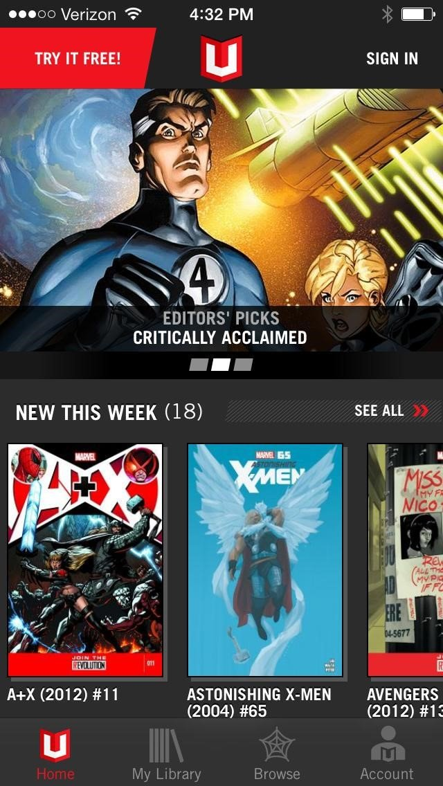 Marvel Unlimited Alternatives and Similar Apps and Websites