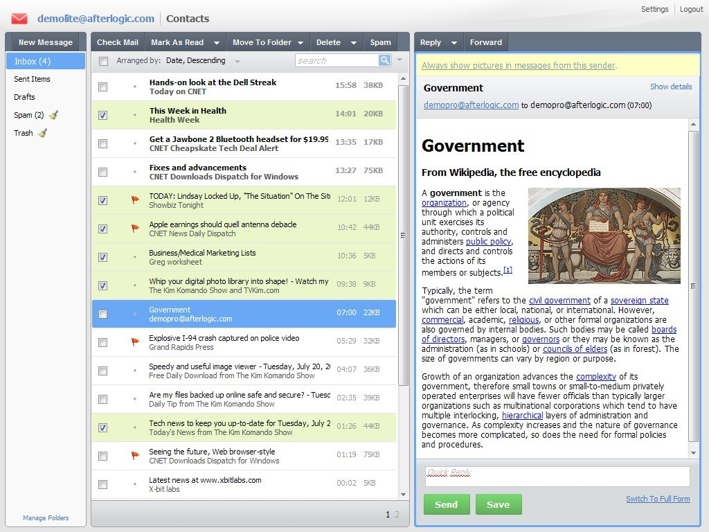 Webmail Lite Alternatives and Similar Websites and Apps