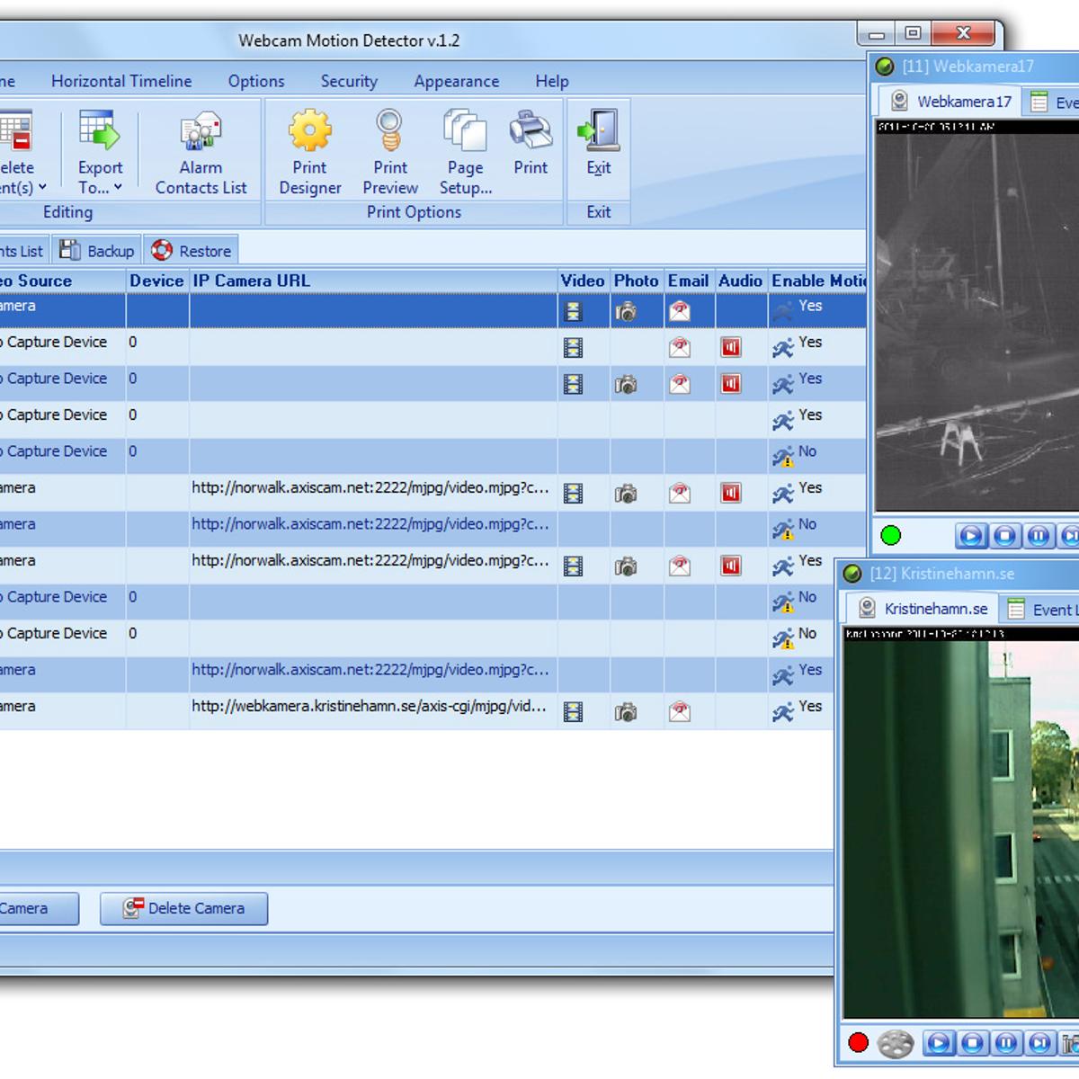 Webcam Motion Detector Alternatives and Similar Software