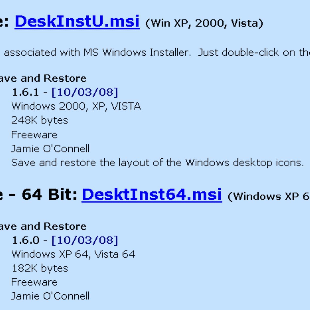 windows 10 desktop restore