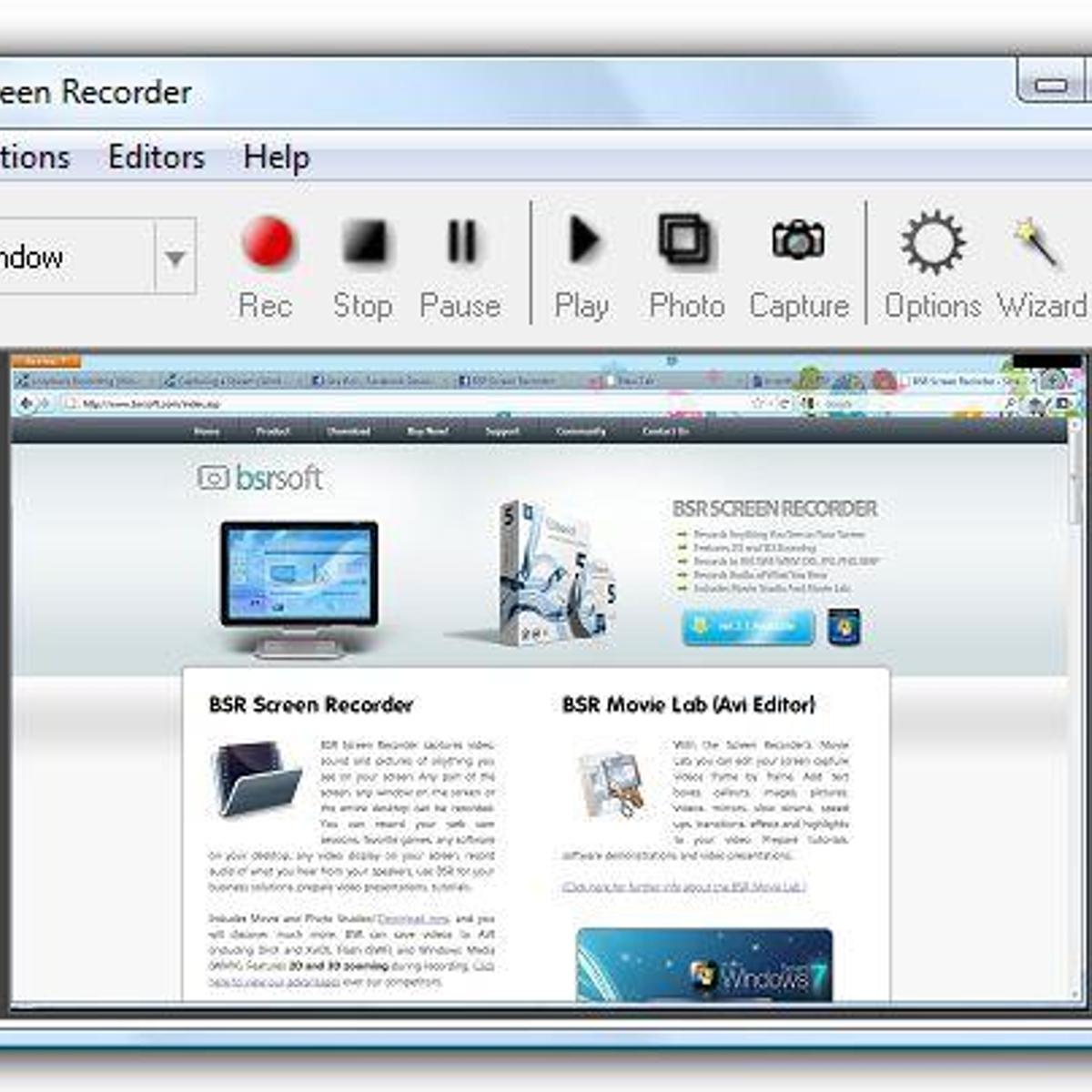 BSR Screen Recorder Alternatives and Similar Software