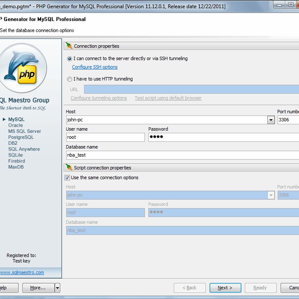 Build Database Website Generator