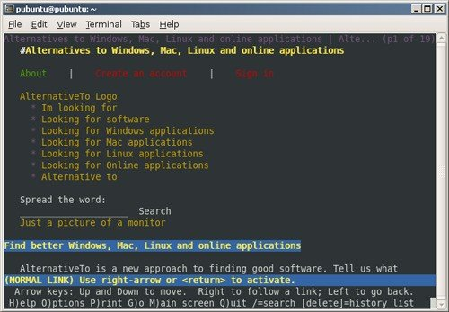 5 Best web browsers that run in a terminal as of 2019 - Slant