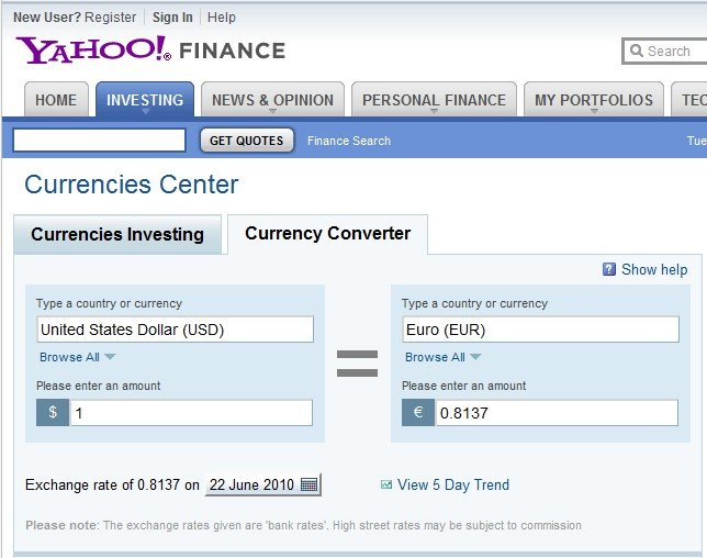 Finance Currencies Center In Our Activity Log It S Possible To Update The Information On Yahoo Or Report As Discontinued