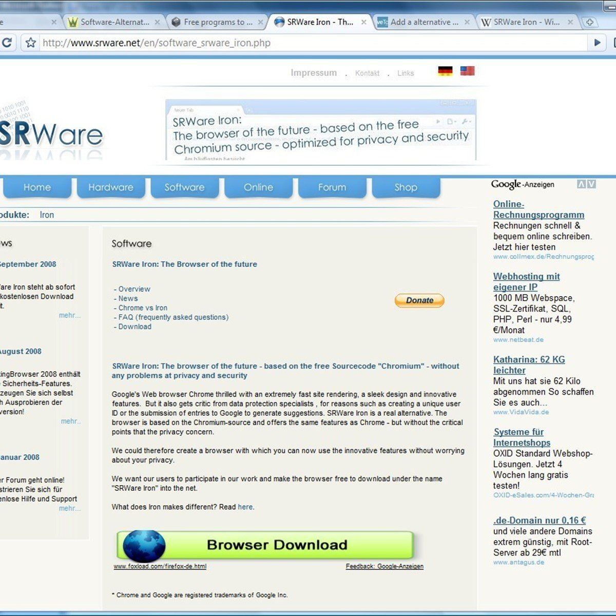 SRWare Iron Reviews