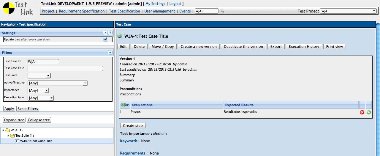 its possible to update the information on testlink or report it as discontinued duplicated or spam