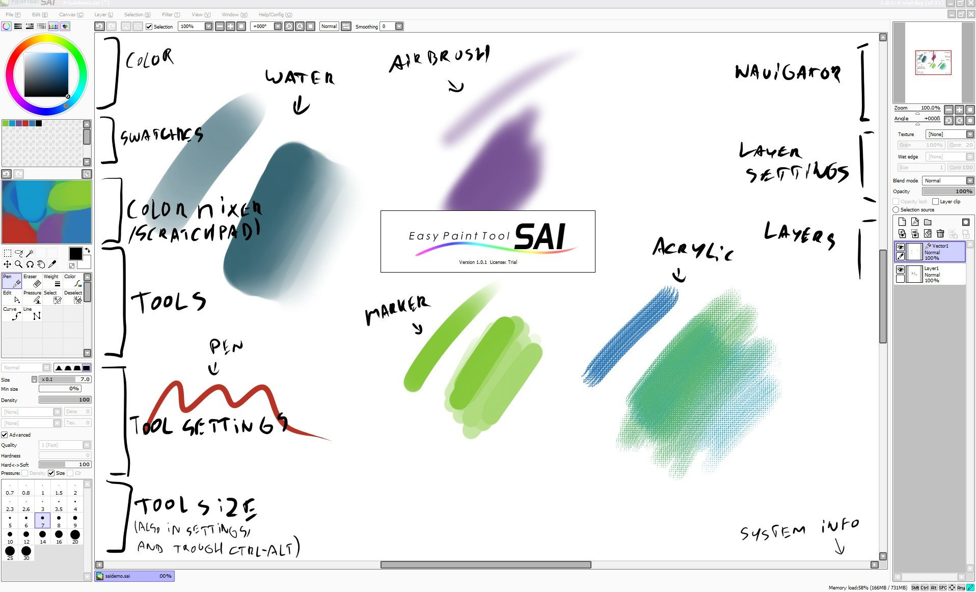 paint tool sai full version 2018