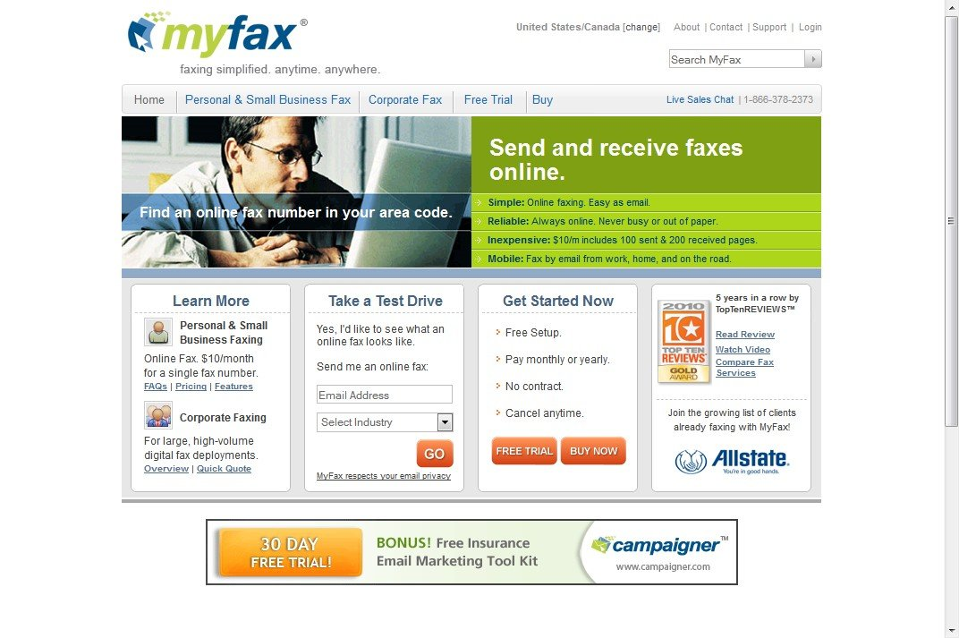 myfax features